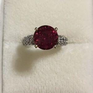 Jewelry - Hot Pink Tourmaline and Diamond Ring